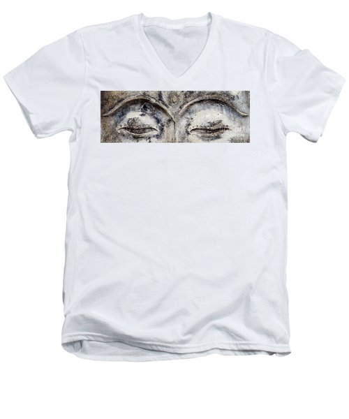 Men's V-Neck T-Shirt featuring the photograph Buddha Eyes by Roselynne Broussard