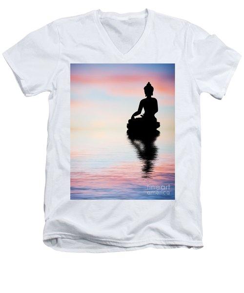 Buddha Reflection Men's V-Neck T-Shirt