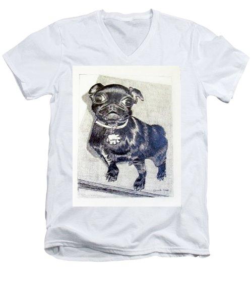 Buddy Men's V-Neck T-Shirt by Jamie Frier