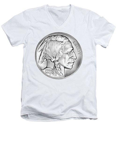 Buffalo Nickel Men's V-Neck T-Shirt