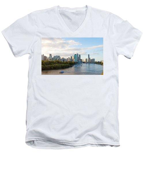 Buildings At The Waterfront, Brisbane Men's V-Neck T-Shirt