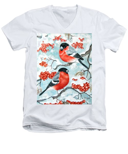 Bullfinch Couple Men's V-Neck T-Shirt