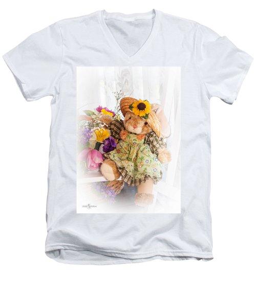 Bunny Expressions Men's V-Neck T-Shirt