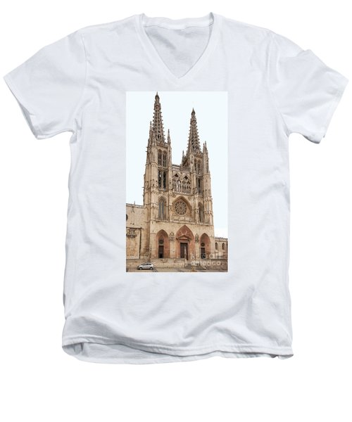 Men's V-Neck T-Shirt featuring the photograph Burgos Cathedral Spain by Rudi Prott