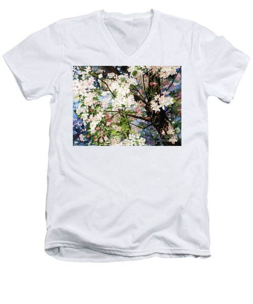 Burst Of Spring Men's V-Neck T-Shirt