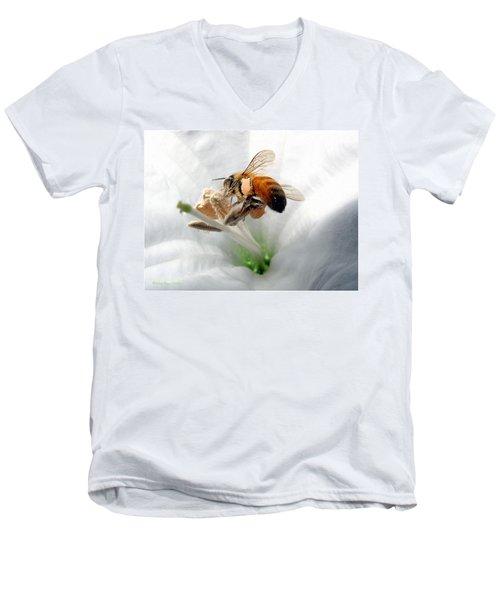 Busy Men's V-Neck T-Shirt