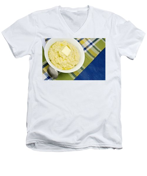 Cheese Grits With A Pat Of Butter Men's V-Neck T-Shirt
