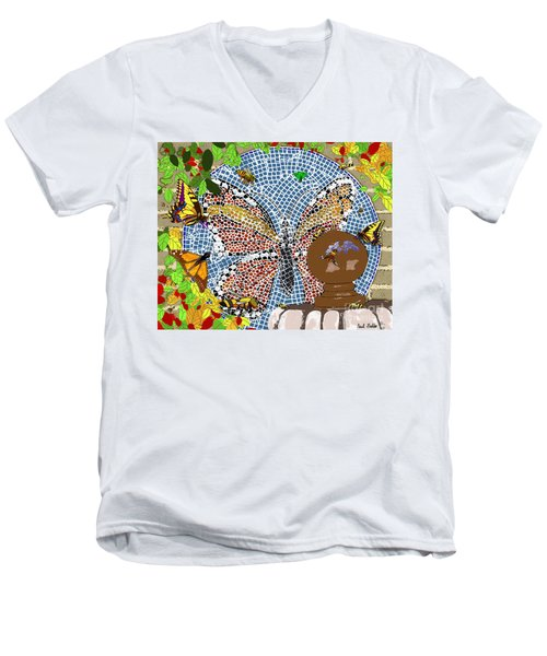 Butterflies And Bees Men's V-Neck T-Shirt