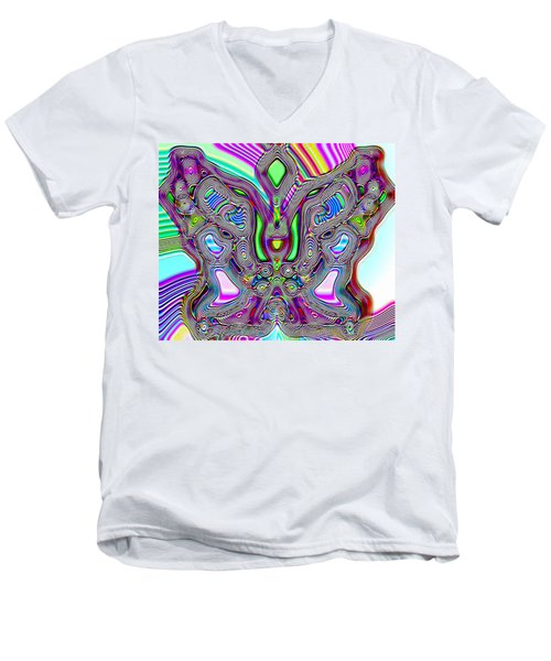 Butterfly Groove Men's V-Neck T-Shirt