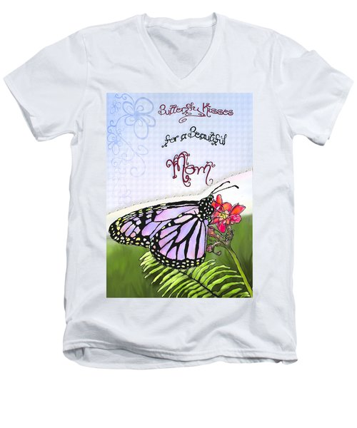 Butterfly Kisses Men's V-Neck T-Shirt