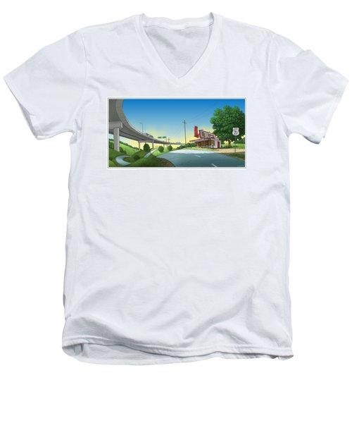 Bypassed Men's V-Neck T-Shirt