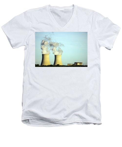 Byron Nuclear Plant Men's V-Neck T-Shirt