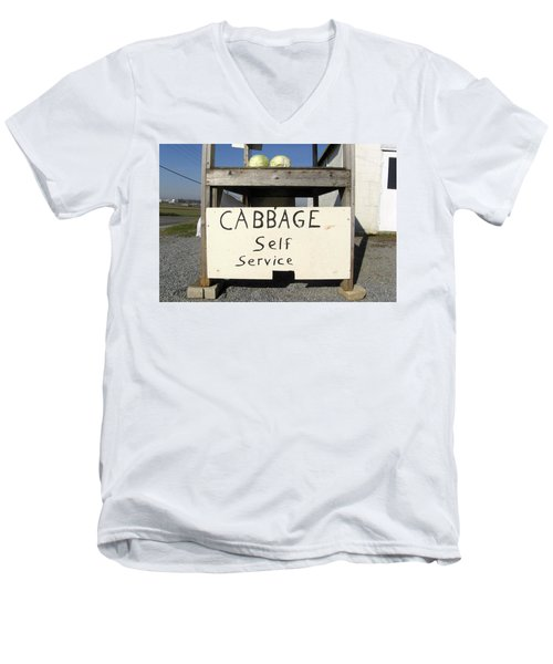 Cabbage Self Service Men's V-Neck T-Shirt