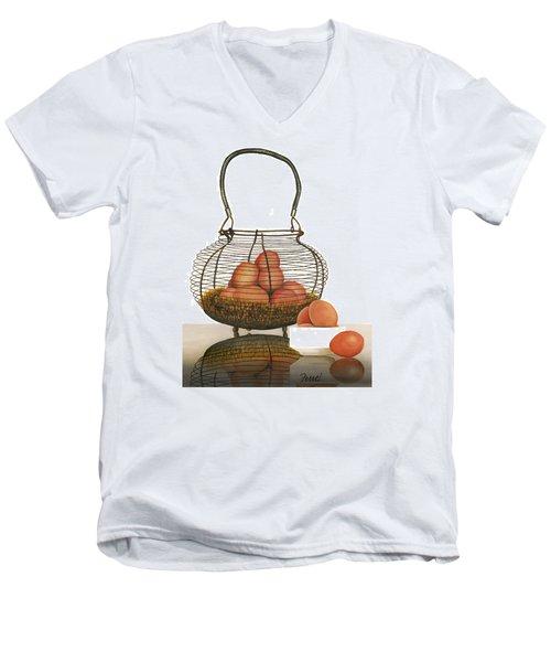 Cackleberries Men's V-Neck T-Shirt by Ferrel Cordle