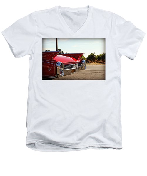 Cadillac In Wine Country  Men's V-Neck T-Shirt