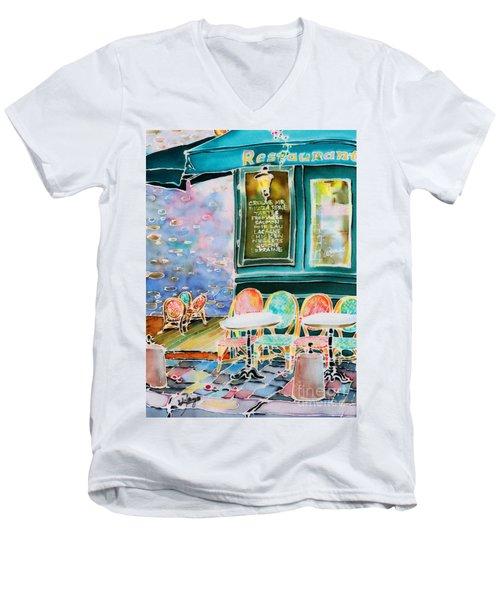 Cafe In Montmartre Men's V-Neck T-Shirt