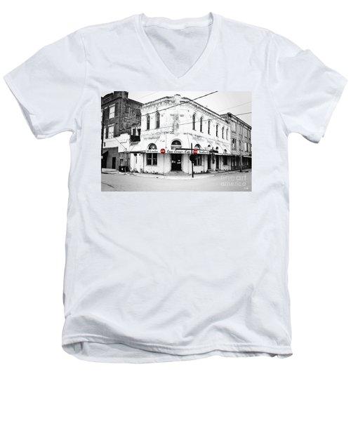Cajun Corner Cafe Men's V-Neck T-Shirt by Scott Pellegrin