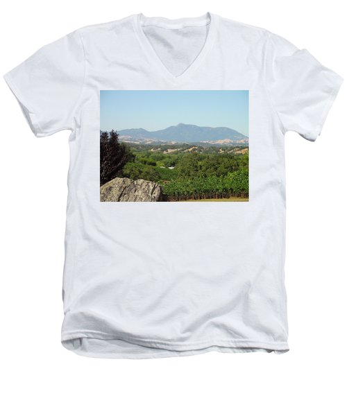 Men's V-Neck T-Shirt featuring the photograph Cali View by Shawn Marlow