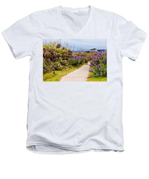 California Coastline Path Men's V-Neck T-Shirt