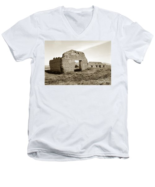 Soledad  California Mission  Monterey Co. Circa 1900 Men's V-Neck T-Shirt