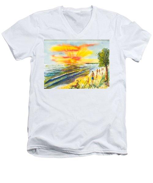 California Sunset Men's V-Neck T-Shirt
