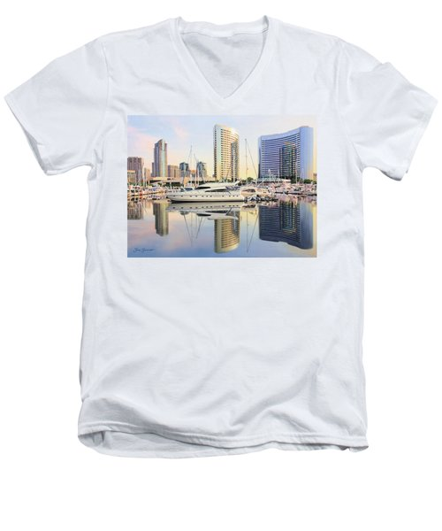 Calm Summer Morning Men's V-Neck T-Shirt by Jane Girardot