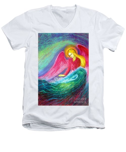 Calming Angel Men's V-Neck T-Shirt