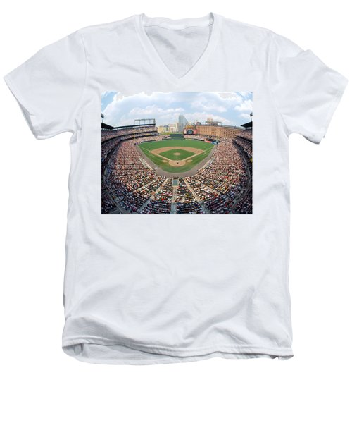 Camden Yards Baltimore Md Men's V-Neck T-Shirt by Panoramic Images