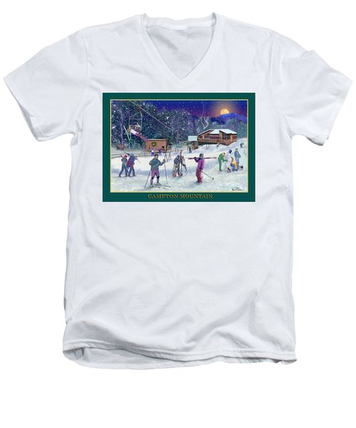 Campton Mountain Ski Area Men's V-Neck T-Shirt