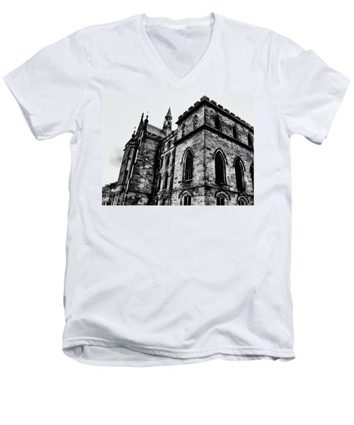 Men's V-Neck T-Shirt featuring the photograph Can You Hear Me by Doc Braham