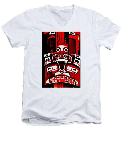 Canada - Inuit Village Totem Men's V-Neck T-Shirt