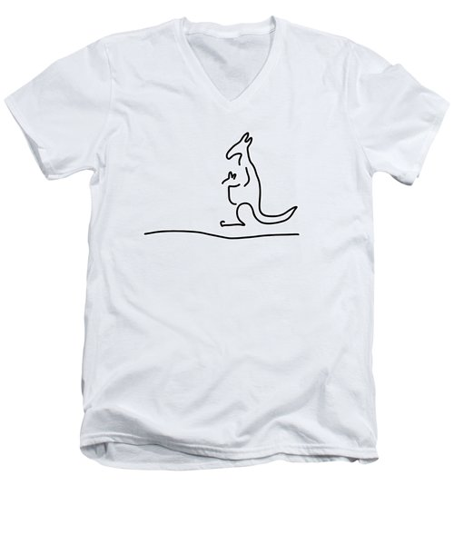 Cangarooh Kaenguru Bag Baby Men's V-Neck T-Shirt