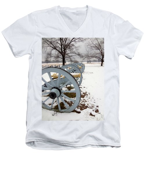 Cannon's In The Snow Men's V-Neck T-Shirt