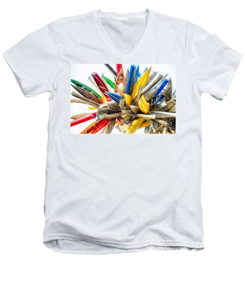 Canoe Art II Men's V-Neck T-Shirt