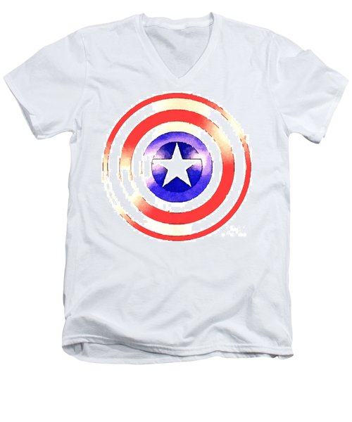 Cap Am Shield Men's V-Neck T-Shirt