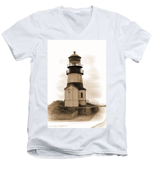 Cape Disappointment Lighthouse Men's V-Neck T-Shirt