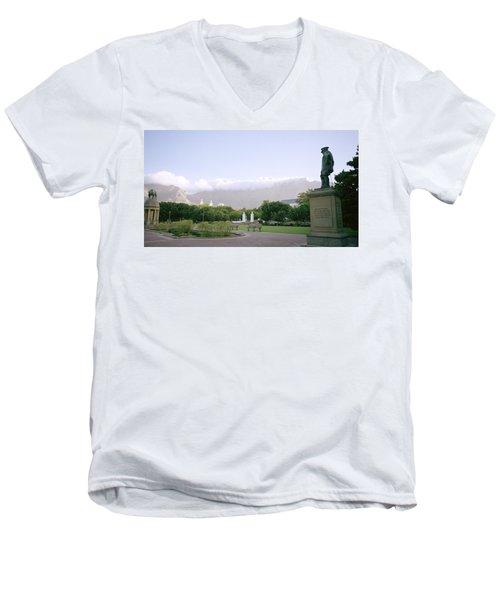 Cape Town Twilight Men's V-Neck T-Shirt by Shaun Higson