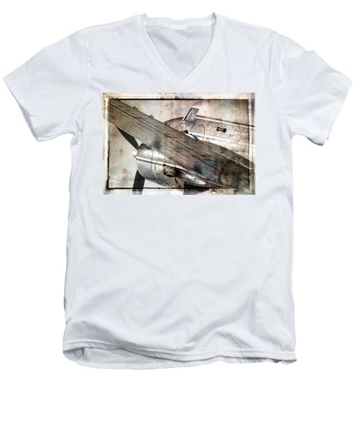 Men's V-Neck T-Shirt featuring the photograph Captain's Flight by Steven Bateson