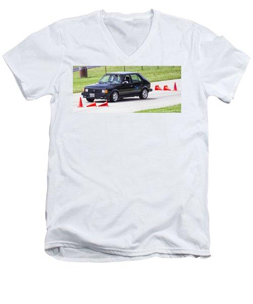 Car No. 76 - 07 Men's V-Neck T-Shirt