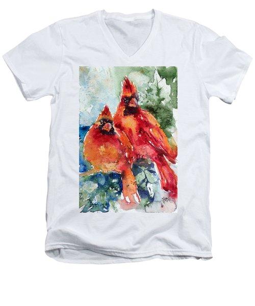 Cardinal Birds Men's V-Neck T-Shirt