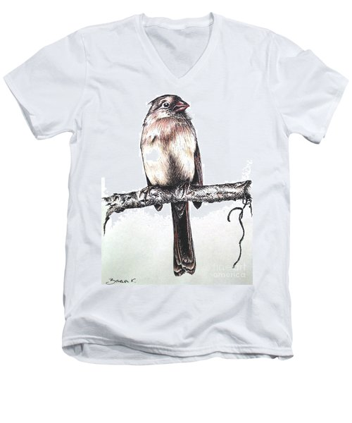 Cardinal Female Men's V-Neck T-Shirt