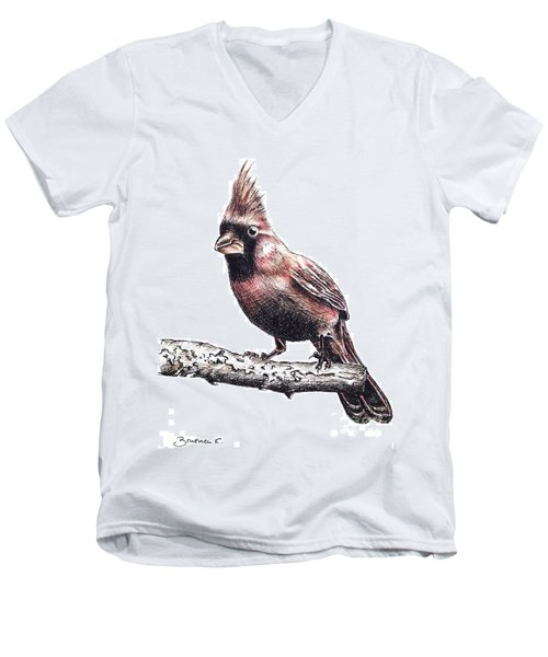 Cardinal Male Men's V-Neck T-Shirt