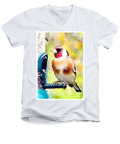 Carduelis Carduelis 'waterfinch' Men's V-Neck T-Shirt