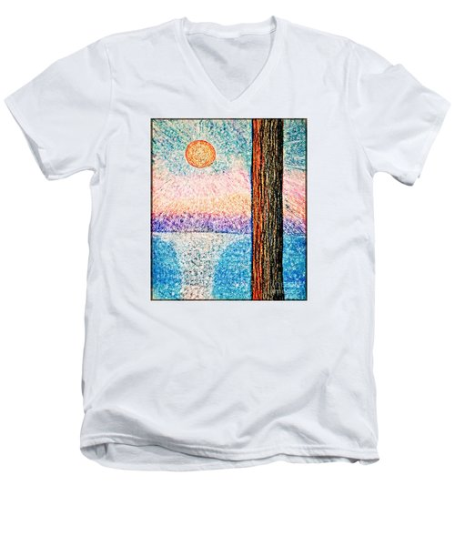 Carmel Highlands Sunset Men's V-Neck T-Shirt