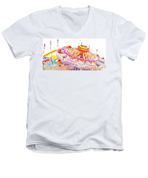 Carnival Sombrero Men's V-Neck T-Shirt by Marianne Dow