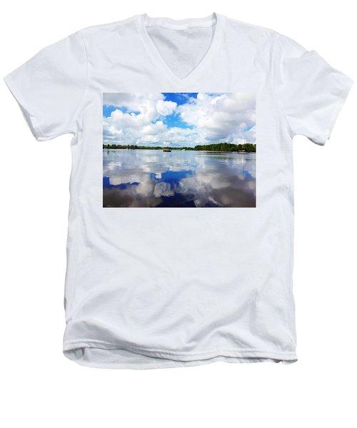 Carolina Blue- Washington Nc Men's V-Neck T-Shirt