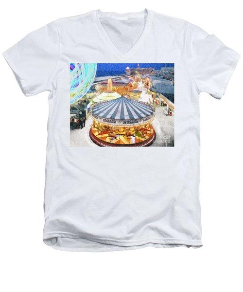 Carousel Waltz Men's V-Neck T-Shirt