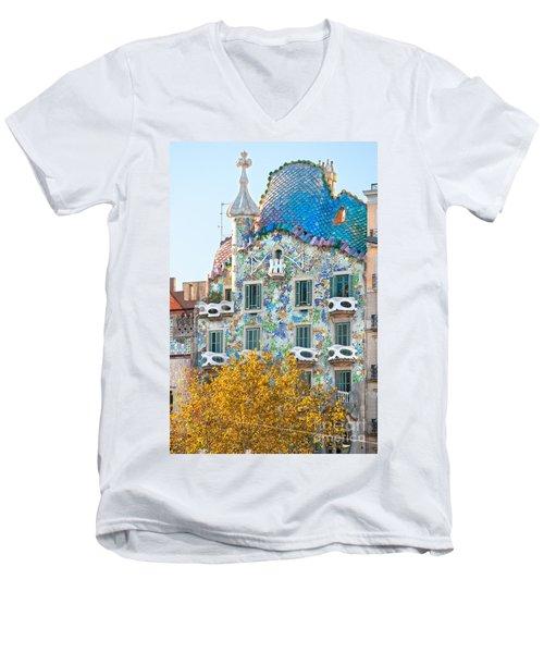 Casa Batllo - Barcelona Men's V-Neck T-Shirt