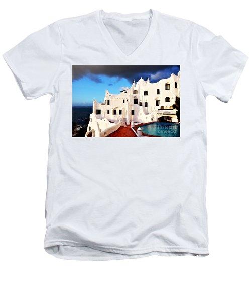 Casa Pueblo Al Mar Men's V-Neck T-Shirt by Valerie Rosen