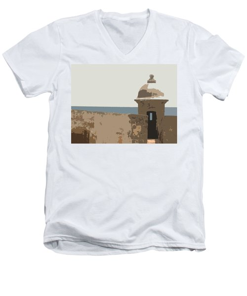Casita Men's V-Neck T-Shirt by Julio Lopez